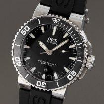 Oris 0173376534154-0782601PEB Steel 2014 Aquis Date 43mm pre-owned