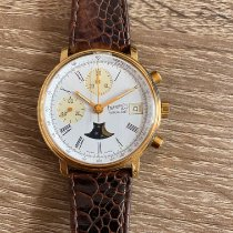 Eberhard & Co. Yellow gold Chronograph White Roman numerals 36mm pre-owned