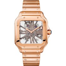 Cartier Santos (submodel) Rose gold 39.8mm Transparent Roman numerals United States of America, New York, NEW YORK