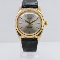 Rolex Yellow gold Automatic Silver No numerals 32mm pre-owned Bubble Back