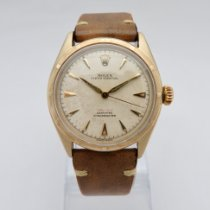 Rolex Yellow gold Automatic White No numerals 34mm pre-owned Bubble Back