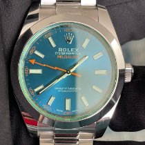 Rolex Milgauss Otel 40mm Albastru