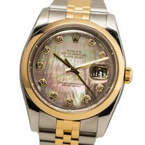 Rolex Datejust 116203 Very good Gold/Steel 36mm Automatic