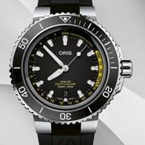 Oris 01 733 7755 4154-SET RS Steel 2021 Aquis Depth Gauge new