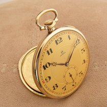 Omega Omega 14K Gold Pocket Watch Very good Yellow gold 46mm Manual winding