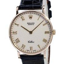Rolex Cellini Or jaune 32mm Blanc Romains