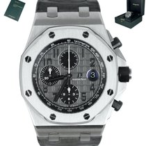 Audemars Piguet Steel Automatic Grey 42mm pre-owned Royal Oak Offshore Chronograph
