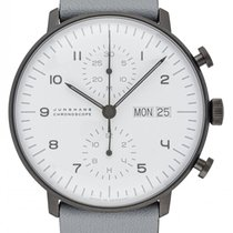 Junghans max bill Chronoscope new 2020 Automatic Chronograph Watch with original box and original papers 027/4008.04