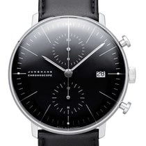 Junghans max bill Chronoscope Steel 40mm Black
