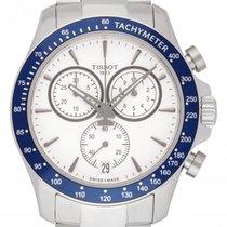 Tissot V8 neu 2021 Quarz Chronograph Uhr mit Original-Box und Original-Papieren T106.417.11.031.00
