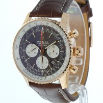 Breitling Navitimer Rattrapante Red gold 45mm Brown