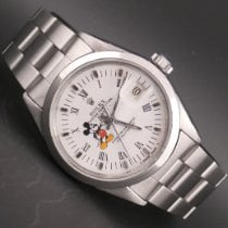 Rolex Oyster Perpetual Date Steel 34mm White No numerals
