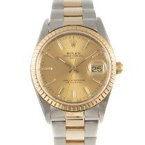 Rolex Oyster Perpetual Date Золото/Cталь 34mm Золотой