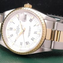 Rolex Oyster Perpetual Date Золото/Cталь 34mm Белый Без цифр
