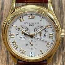 Patek Philippe Annual Calendar pre-owned 37mm White Leather