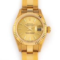 Rolex Lady-Datejust Ouro amarelo 26mm Champanhe Sem números