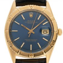 Rolex Yellow gold Automatic Blue 36mm pre-owned Datejust Turn-O-Graph