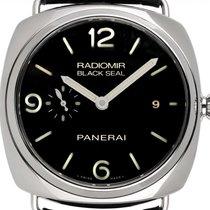 Panerai Radiomir Black Seal 3 Days Automatic Staal 45mm Zwart Arabisch