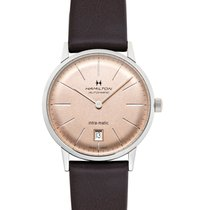 Hamilton Rose gold Automatic Champagne 38mm new Intra-Matic