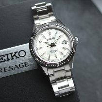 Seiko Presage Steel 41.3mm White No numerals
