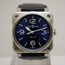 Bell & Ross BR 03-92 Steel Steel 41mm Blue Arabic numerals