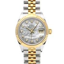 Rolex (ロレックス) レディース デイトジャスト 新品 2020 自動巻き 正規のボックスと正規の書類付属の時計 279173NG