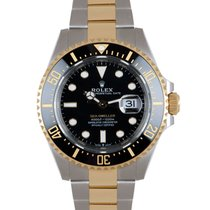 Rolex Sea-Dweller Guld/Stål 43mm Sort