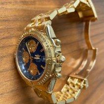 Breitling Gelbgold Automatik Blau 40mm gebraucht Chronomat