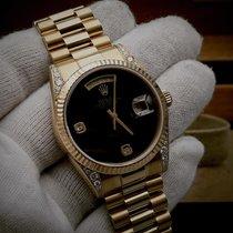 Rolex Day-Date 36 Gulguld 36mm Svart