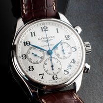 Longines Master Collection pre-owned 44mm White Chronograph Date Leather