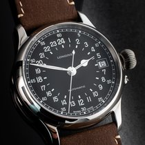 Longines Steel Automatic Black Arabic numerals 47,5mm pre-owned Twenty-Four Hours