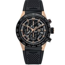 TAG Heuer Or rose Remontage automatique Noir occasion Carrera