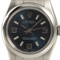 Rolex Oyster Perpetual 26 Ατσάλι 26mm Μπλέ