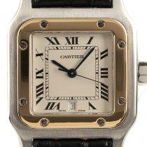 Cartier Santos Galbée Золото/Cталь 29mm