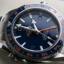 Omega Seamaster Planet Ocean подержанные 43.5mm Синий Дата GMT/две час.зоны Сталь