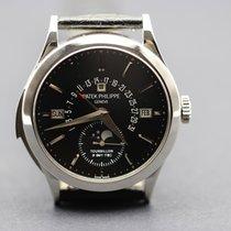 Patek Philippe Platinum Manual winding Black 39.5mm pre-owned Minute Repeater Perpetual Calendar