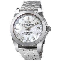 Breitling Galactic 36 Steel 36mm Mother of pearl No numerals United States of America, New York, New York