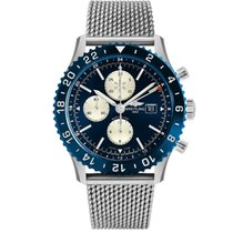Breitling Chronoliner Steel 45mm Blue No numerals United States of America, New York, New York