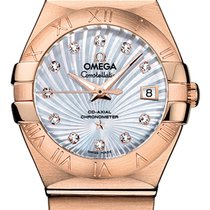 Omega Automatic White 27mm new Constellation Ladies