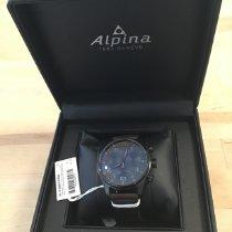 Alpina Stahl 44mm Quarz AL-372BBG4FBS6 neu
