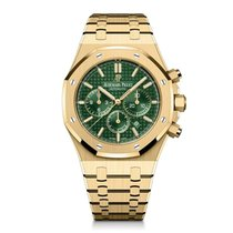 Audemars Piguet Royal Oak Chronograph Yellow gold 41mm Green No numerals United States of America, New York, New York