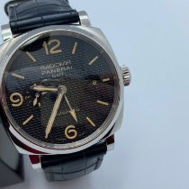 Panerai Radiomir 1940 3 Days Automatic pre-owned 45mm Black Date GMT Leather