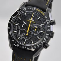 Omega Ceramic Manual winding Black No numerals 44.25mm pre-owned Speedmaster Professional Moonwatch