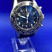 IWC Pilot Chronograph Steel Black Arabic numerals UAE, Abu Dhabi
