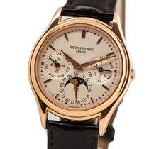 Patek Philippe Perpetual Calendar Aur rosu 36mm Argint Fara cifre