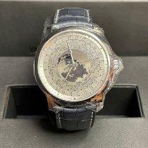 Vacheron Constantin nuevo Automático Serie limitada Reloj de hora mundial Platino Cristal de zafiro