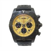 Breitling Chronomat 44 Blacksteel Stahl 44mm Gelb Keine Ziffern