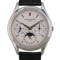 Patek Philippe Perpetual Calendar Platinum 36mm Silver No numerals