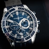 Ulysse Nardin Steel Automatic Blue No numerals 44mm pre-owned Diver Chronograph
