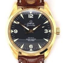 Omega Seamaster Railmaster Yellow gold 39mm Black Roman numerals